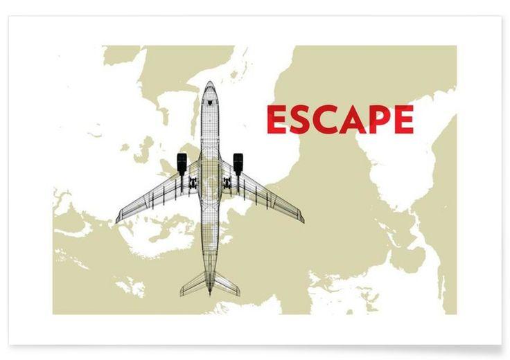 Escape als Premium Poster von Marc Schulthess | JUNIQE