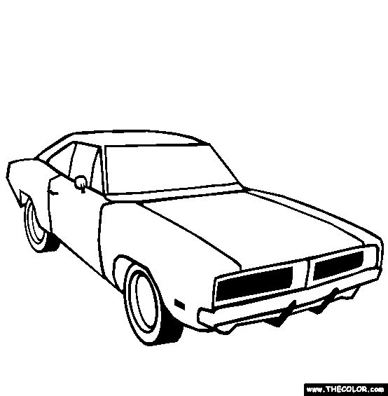 1969 Dodge Challenger Coloring Page