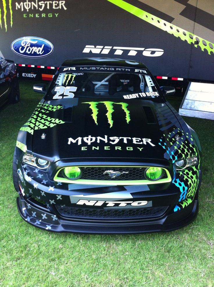 The Monster Energy Drift Mustang at the Fabulous Fords Show.