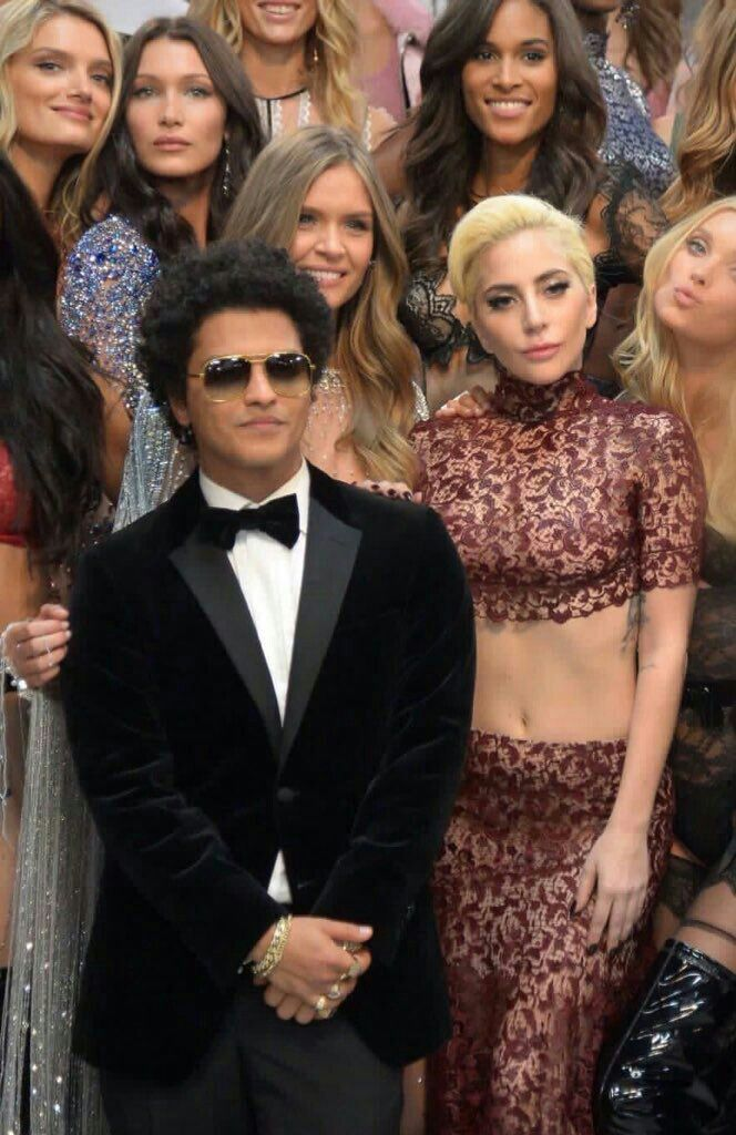 Bruno Mars and Lady Gaga