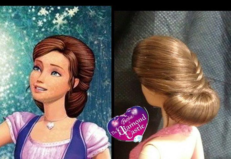 ❤Penteado Inspirado em Barbie e o Castelo de Diamante