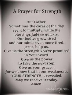 prayer for courage and strength - Google Search