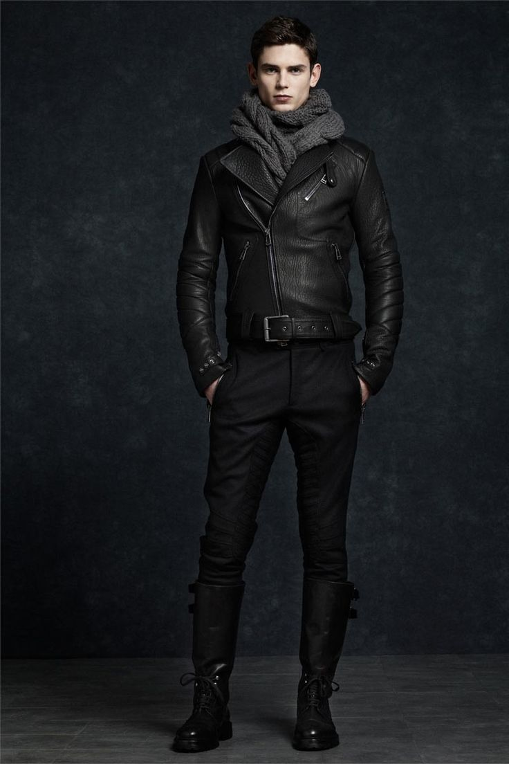 Belstaff Fall/Winter 2012. Looking at the biker inspiration in this outfit.