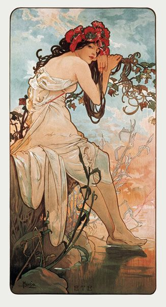 Titre de l'image : Alphonse Mucha - The Seasons: Summer