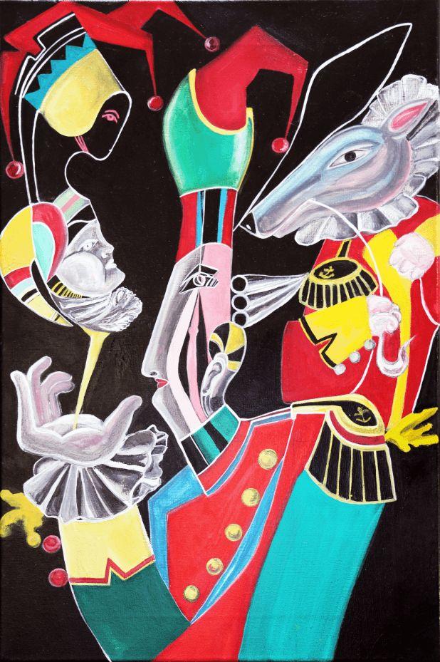 """Картина маслом """"Маски"""" - Галерея изобразительного и декоративного искусства"""