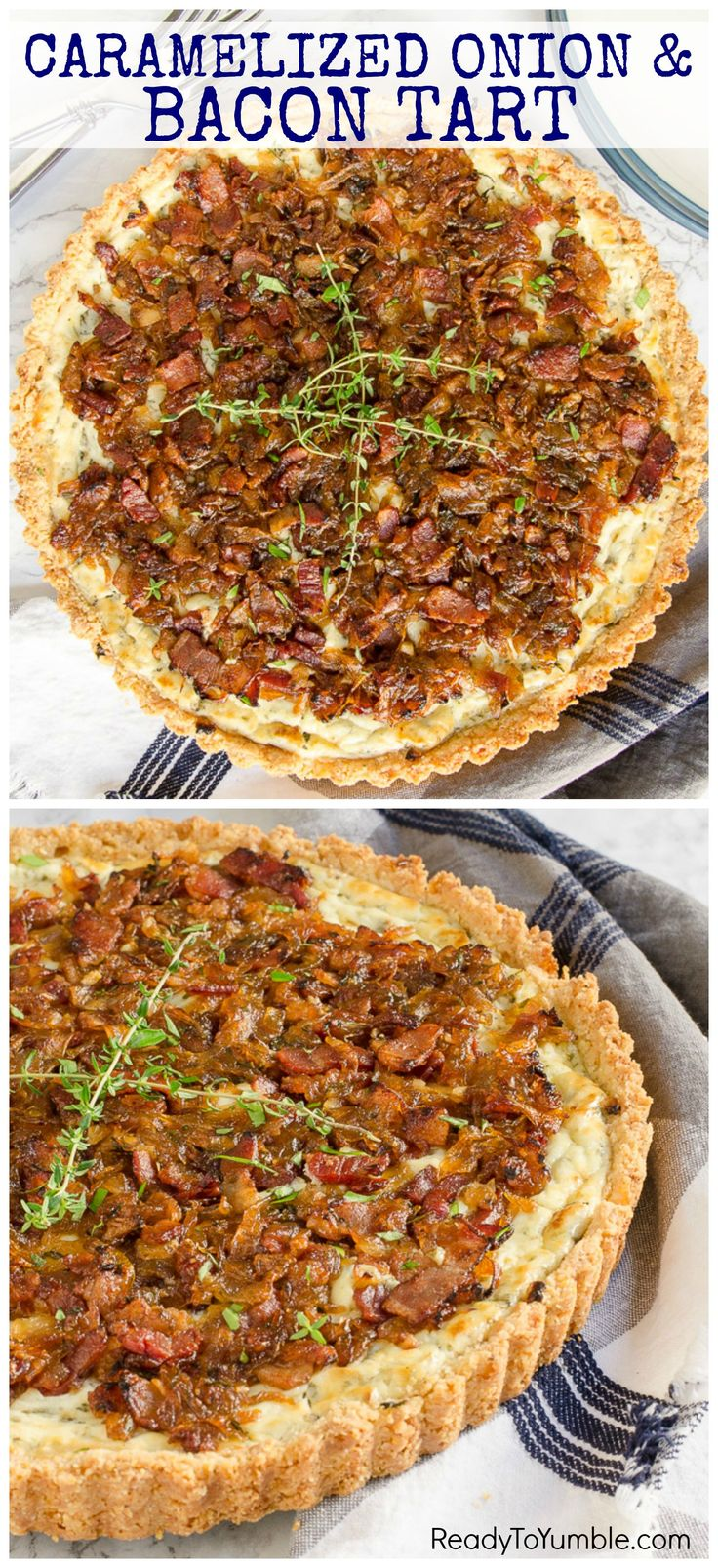 Caramelized Onion and Bacon Tart | Recipe