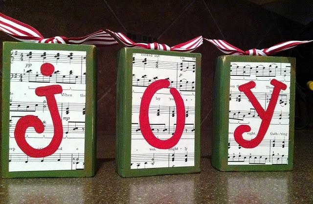 Joy block lettersChristmas Crafts, Block Letters, Custom Nurseries, Nursery Art, Nurseries Art, Wooden Letters, Letters Block, Christmas Ideas, Block Tutorials