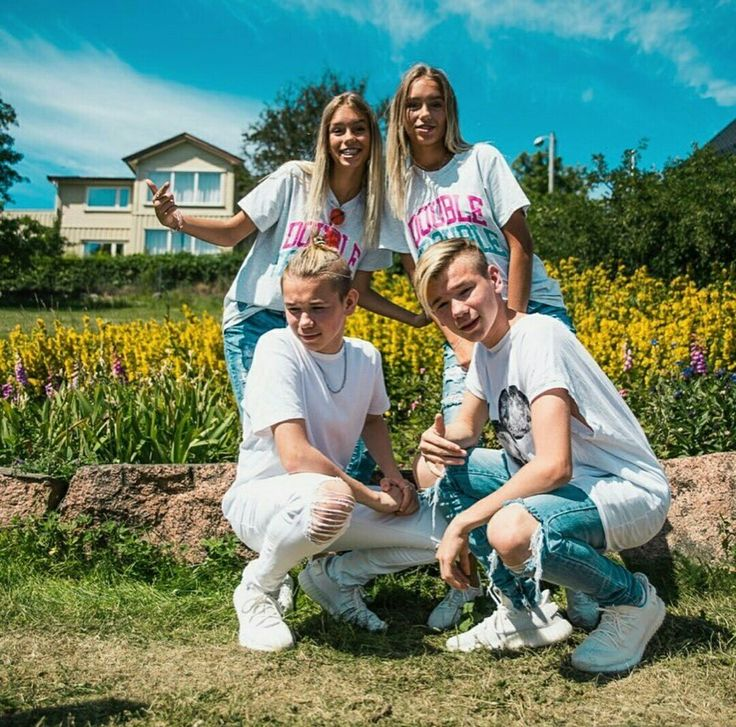 Twins. Marcus and Martinus with Lisa and Lena