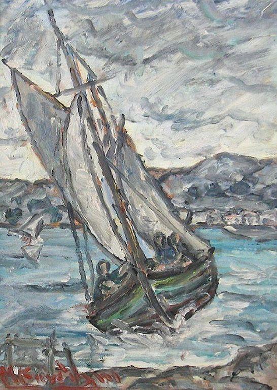 Κανδύλης Μιχάλης – Michalis Kandylis [1909-1998] Ιστιοφόρο στην Αίγινα