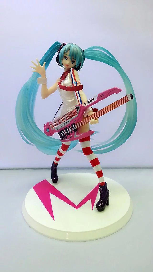 ==> [Free Shipping] Buy Best Mifen Craft Anime Sailor moon Hatsune Miku Greatest Idol Ver. Electric Guitar PVC Action Figure Collection Model Kids Sexy Toy Online with LOWEST Price | 32678539772