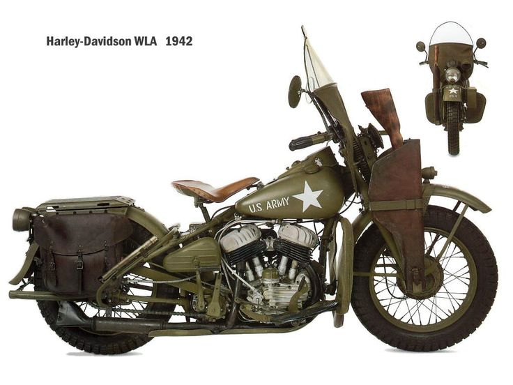 A WW2 Harley-Davidson. These were used as scout bikes and many other things due to their speed.