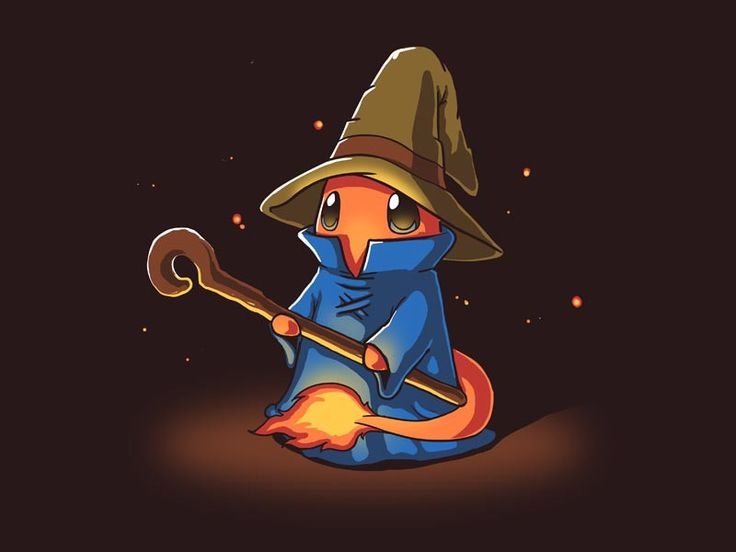 """Fire Mage casts cuteness. It's super effective! Get the """"Fire Mage"""" t-shirt only at TeeTurtle!"""