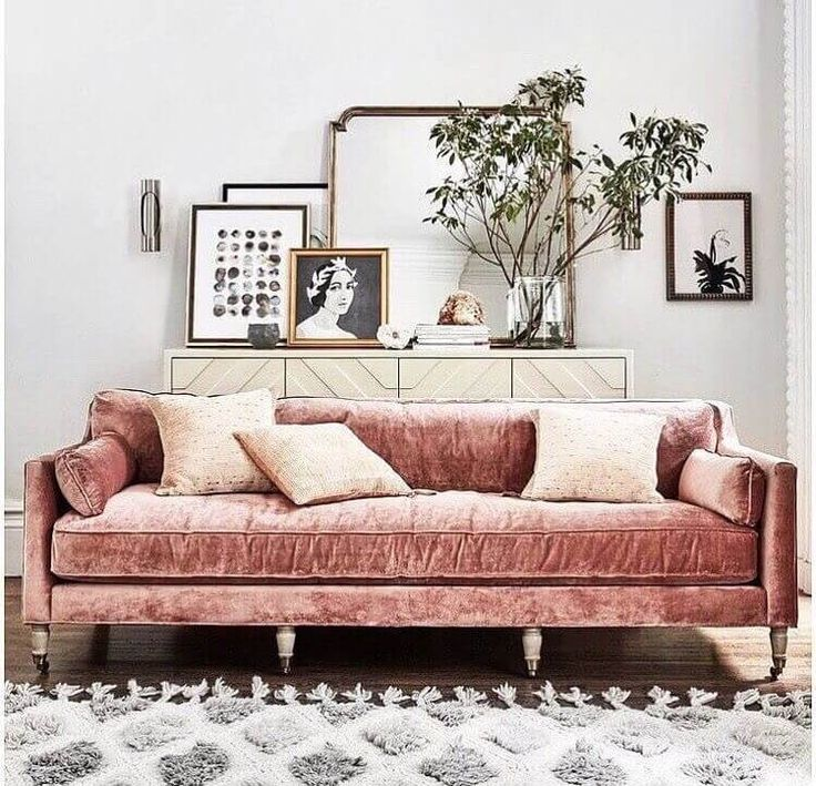 Top 5 interior trends for spring and summer 2017 | by SHnordic | pink velvet sofa
