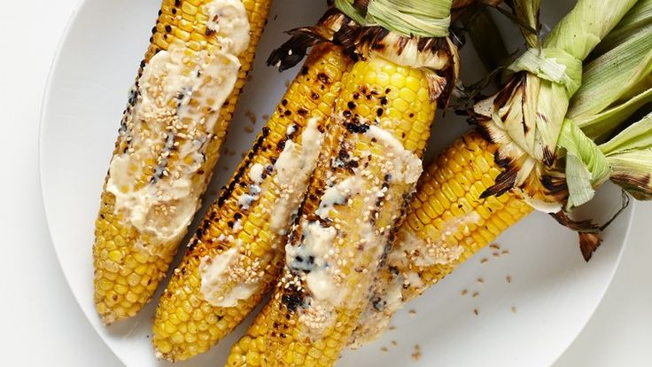 Grilled Corn with Miso Butter Recipe | Bon Appetit