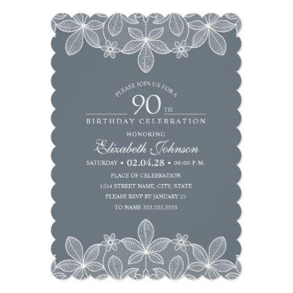 Ponad 25 najlepszych pomys w na Pintere cie na temat 90th – 90th Birthday Invitation Cards