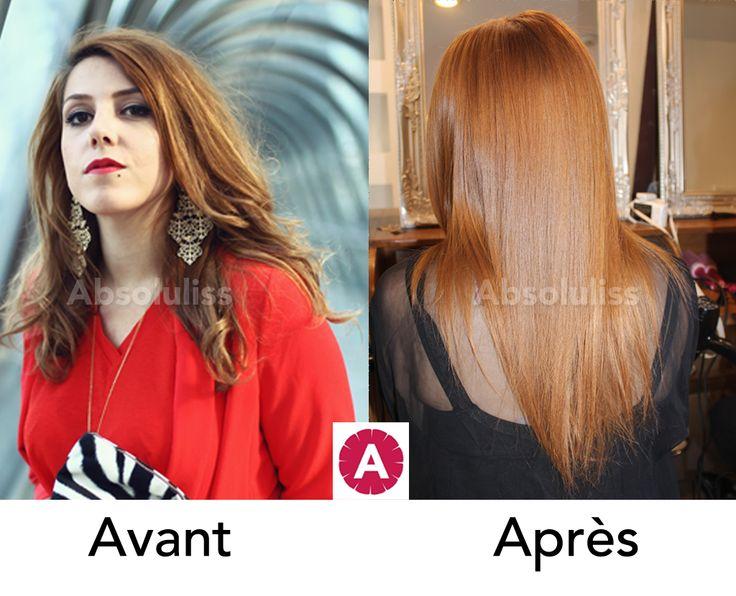 """La magnifique @CharlieSugarTown est venue tester le lissage brésilien Absoluliss Suprem. Ce soin capillaire à la kératine naturelle a donné un véritable coup d'éclat à sa couleur """"roux caramel"""" #ONJML #baràlissage #lissagebresilien #cheveuxlisses #paris  #tendance #cheveuxmagnifiques #cheveuxbrillants #avantapres #keratine #hair #coiffure #cheveuxnaturels #sansformol #hairstyle"""