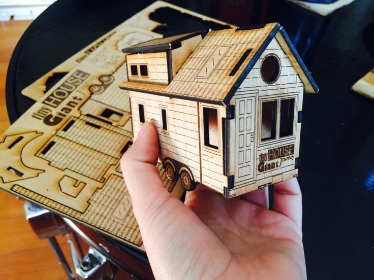 Build a Tiny House in minutes with this wooden puzzle that creates a 3D version. Great for kids and adults that are interested in the Tiny House movement.