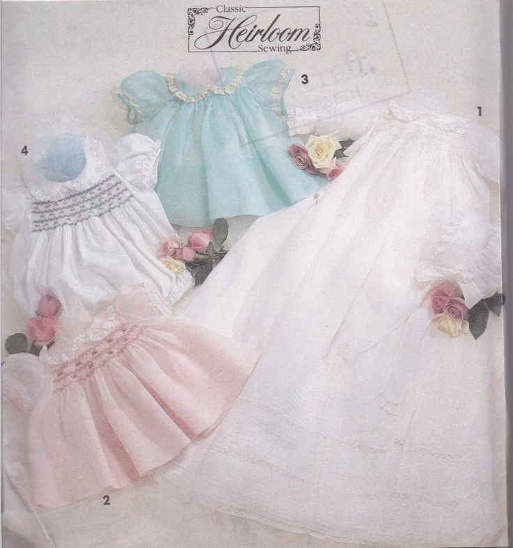 Christening Dress Pattern Baby Sewing Pattern New Born to 12 Months Heirloom Sewing Smocked Dress by SuesUpcyclednVintage on Etsy