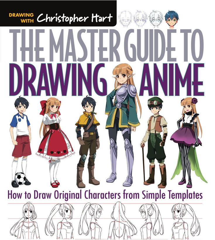 the master guide to drawing anime how to draw original characters from simple templates