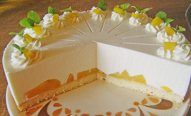 Geheime Rezepte: Quark - Pfirsich - Sahne - Torte (geht auch mit anderem Obst, schnelle Zubereitung, kein Biskuit)