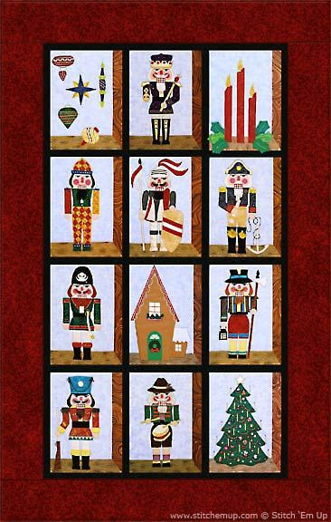 $49 -All the Kings Men Nutcracker Applique' Quilt Pattern from Stitch Em Up