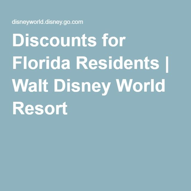 17 Best ideas about Disney Florida Resident on Pinterest Disney