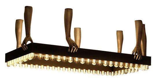 Rectangular Chandelier  Contemporary, Industrial, Transitional, Metal, Chandelier by Lizette Marie Interior Design