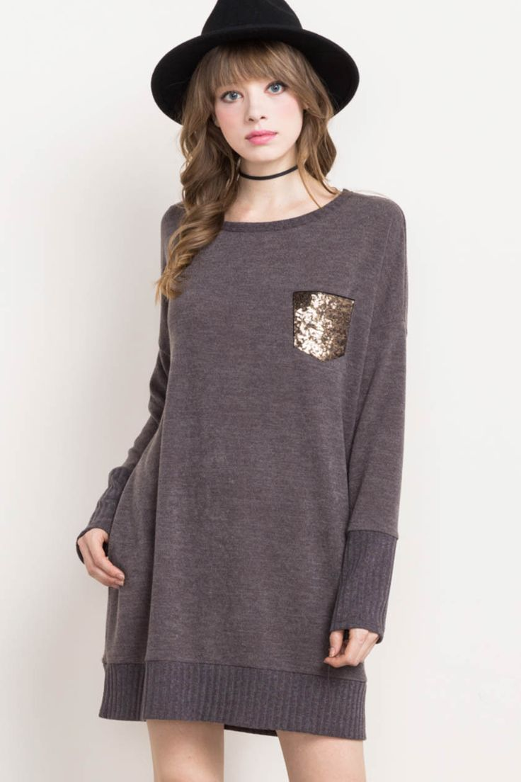 Sequence Pocket Knit Dress