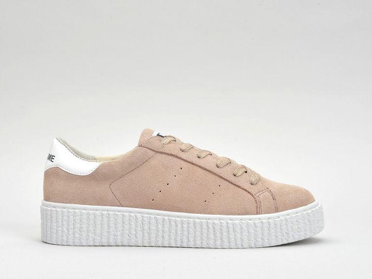 Découvrez les chaussures Picadilly Suede Poudre et la ligne complète des sneakers compensées No Name Picadilly.