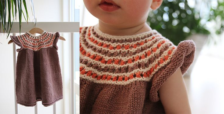 Tropical dress - free knitting pattern - Pickles
