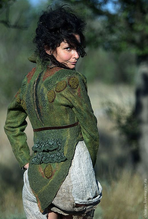 Felt jacket by Irena Levkovich.