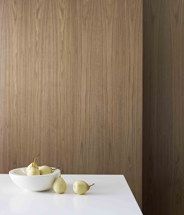 Wall Laminex FSC® Timber Veneer Tuscan Walnut. Styling Wendy Bannister. Photography Earl Carter.