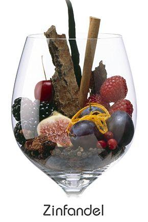Zinfandel considéré comme le cépage de Californie,il mûrit de de manière inégale,mais certaine baies concentrent des taux de sucre incomparables de 16 à 17°.Arômes de Cerise, de mûre, de figue, framboise, prunes , raisins secs, vanille, le zeste d'orange , clous de girofle , le tabac , le poivre , le bois , la cannelle.