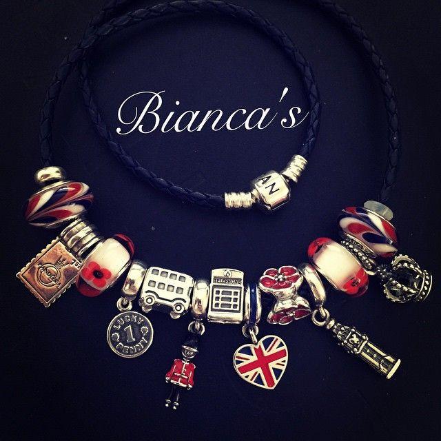 england themed pandora charms