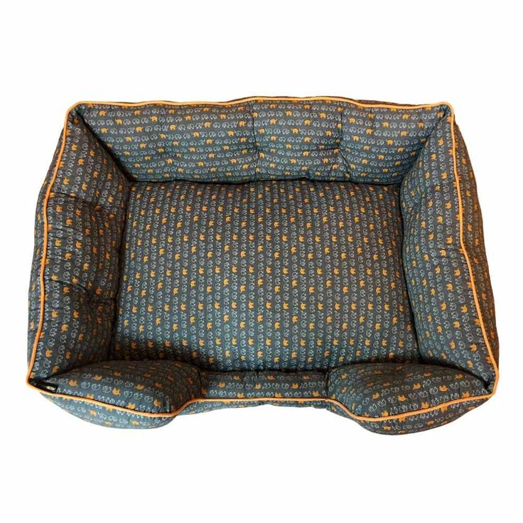 HUFT Elephant Print Lounger Bed for Dogs (Bedding)
