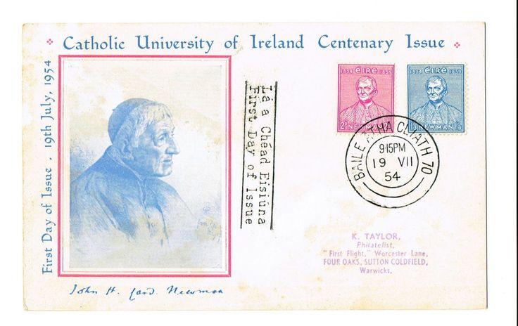 1954 Cardinal Newman, Catholic Universiry - Cachet FDC