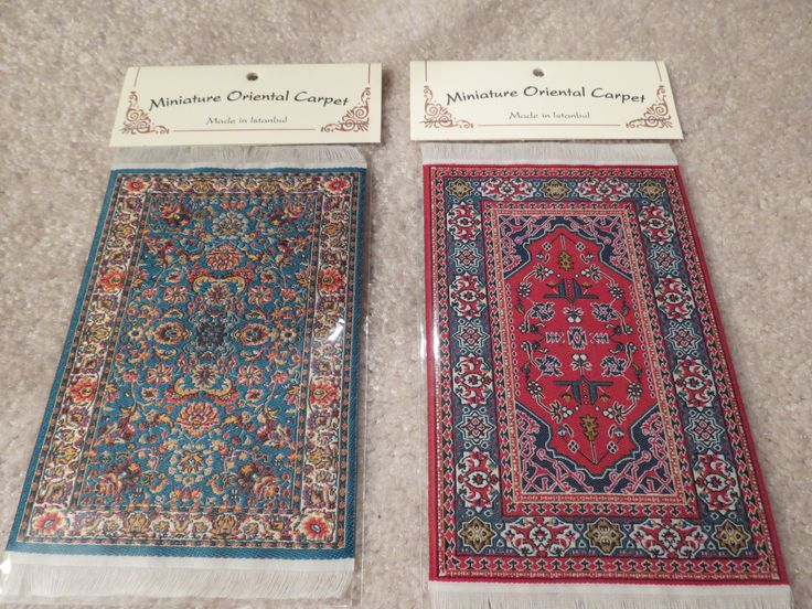 """From left to right are the 4"""" x 6"""" carpets SM9 and SM10."""