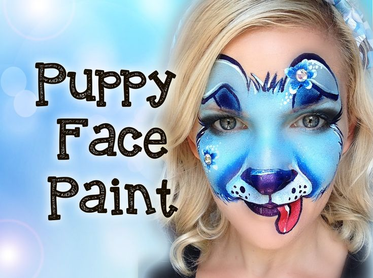 Puppy Dog Face Painting Tutorial Makeup - inspired by Jo Bertram of FizzBubble Face Painting - Go check her out for some mega awesome inspiration! https://instagram.com/fizzbubblefaceandbodyart/