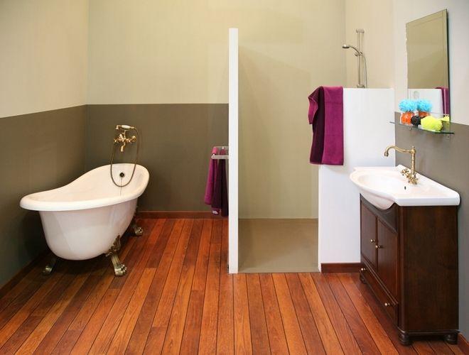 idée déco parquet salle de bains