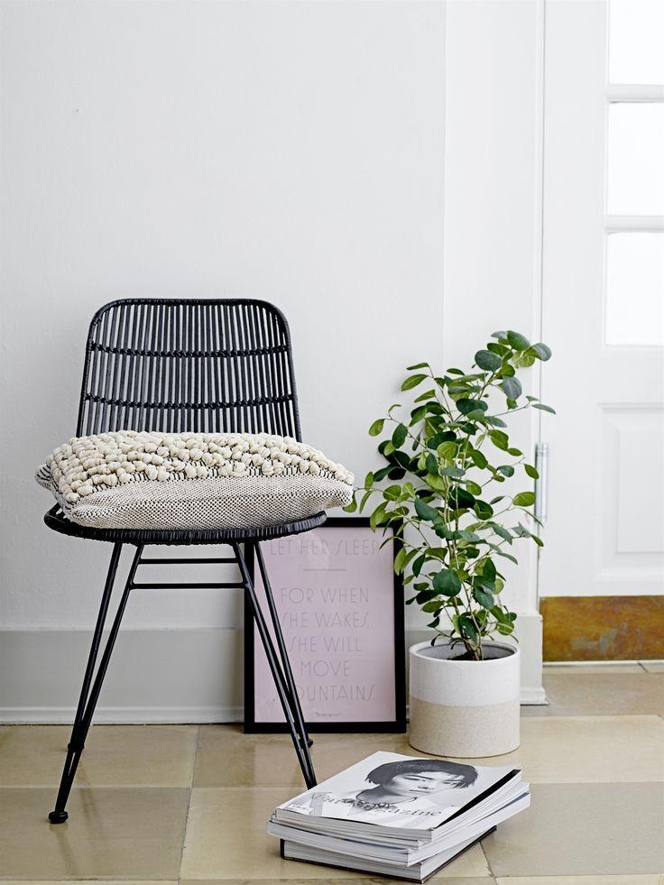 Lot De 2 Chaises En Rotin Noir Lena Chair Bloomingville In 2018