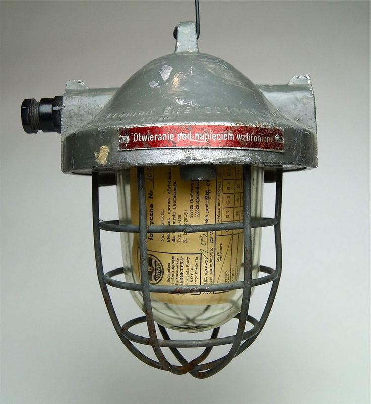 Fabrik Design Bunker Lampe Original Industrial Cage Light Unikat
