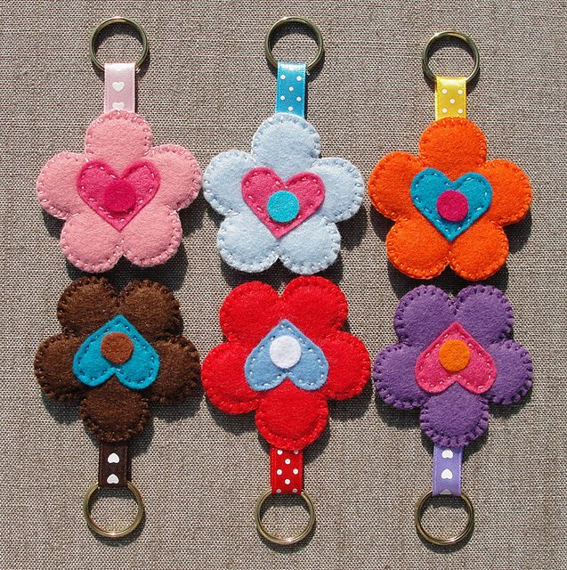 Felt Keychains (Vilten Sleutelhangers), set 3 by Made by BeaG, via Flickr
