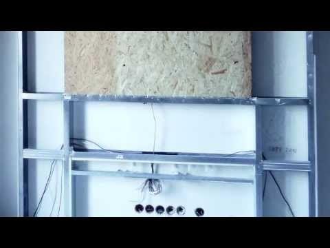 Zabudowa telewizora - konstrukcja z płyt kg  tv wall design ideas #DIY #tvwall #design #ideas