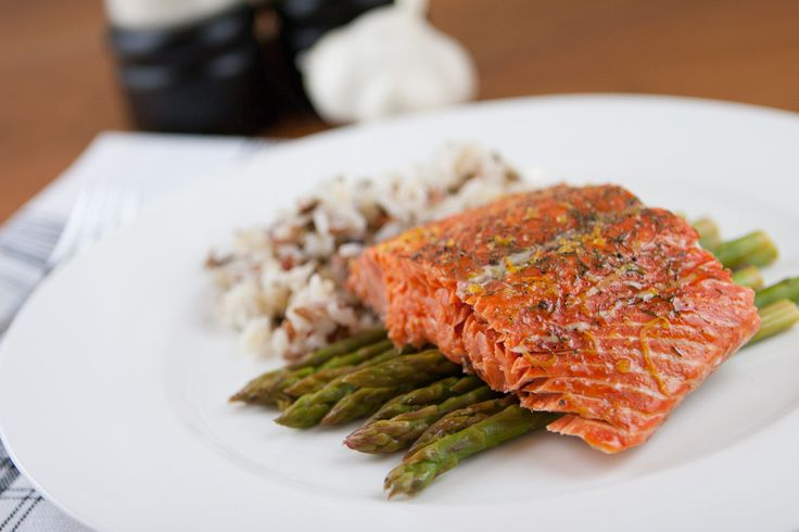 Baked Sockeye salmon with brown sugar, dill and lemon zest ...