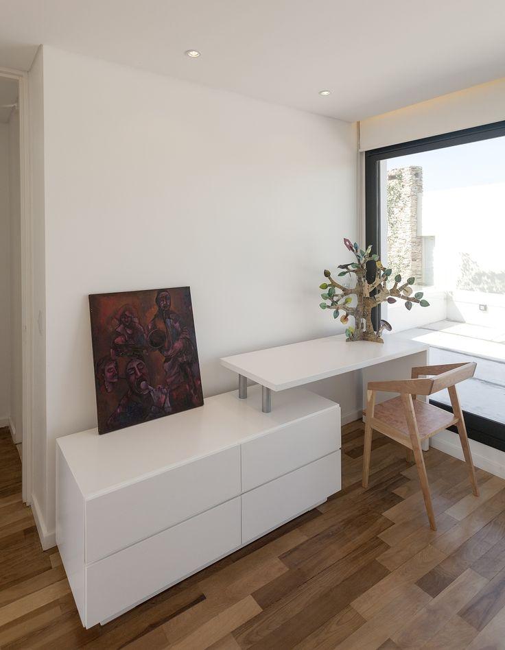 Diseño de mueble de estudio pequeño minimalista