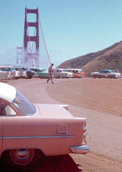 "vintagegal: ""Golden Gate Bridge, San Francisco, 1950s. Kodachrome by Chalmers Butterfield (via) """