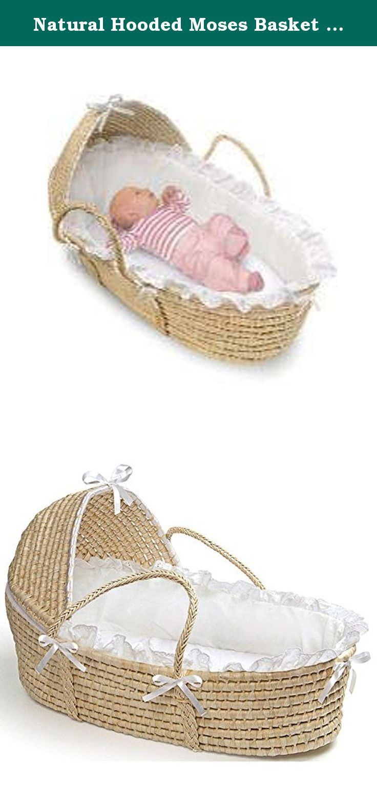 Baby cribs keep your baby close - Natural Hooded Moses Basket In White Baby Furniture You Can Keep Your Baby Close By Wherever You Go With The Badger Basket Natural Moses Basket