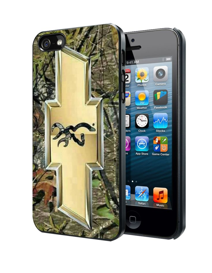 Camo Browning Chevrolet Samsung Galaxy S3 S4 S5 Note 3 Case, Iphone 4 4S 5 5S 5C Case, Ipod Touch 4 5 Case