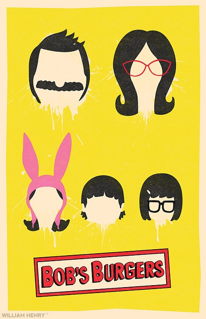 Bobs Burgers character minimal poster