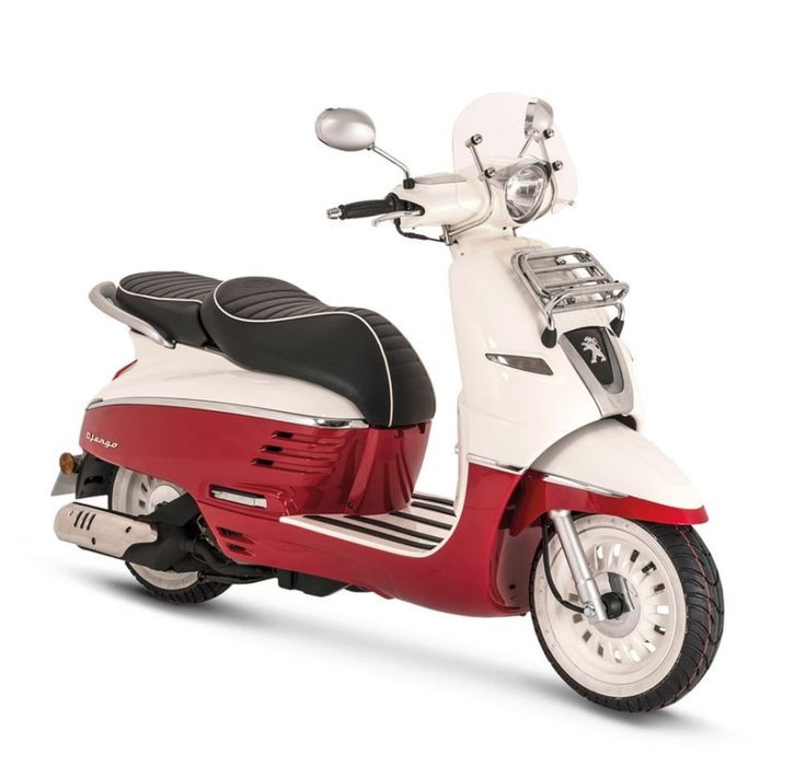 Peugeot Django 150 Scooter Review and Price : Peugeot Django Evasion 150 With Two Tone Colors In White And Red